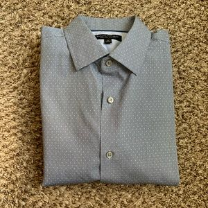 Banana Republic dot slim fit non-iron navy medium